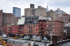 Nuovi Jork edifici di Manhattan Immagini Stock Libere da Diritti