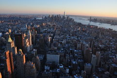 Nuovi Jork edifici di Manhattan Fotografie Stock Libere da Diritti