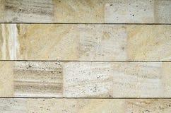 Nuovi piatti di pietra del rivestimento sulla parete Fotografie Stock