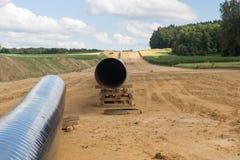 Nuovi pilelines del gas Fotografie Stock Libere da Diritti