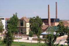 Nuovi progettazione e centro espositivo di Zsolnay a Pecs Ungheria Fotografia Stock