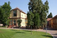 Nuovi progettazione e centro espositivo di Zsolnay a Pecs Ungheria Fotografia Stock Libera da Diritti