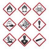 Nuovi simboli di sicurezza Fotografie Stock Libere da Diritti