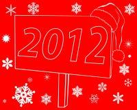 Nuovi tabelloni per le affissioni con l'iscrizione 2012 Immagini Stock Libere da Diritti