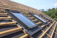 Nuovi tetto e lucernari Fotografia Stock Libera da Diritti