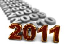 Nuovo 2011 anno Fotografie Stock