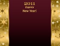 Nuovo 2011 anno felice Immagine Stock