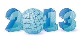 Nuovo 2013 anni blu trasparenti Fotografia Stock