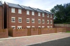 Nuovo alloggio a terrazze Fotografia Stock