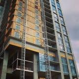 Nuovo alto primo piano della costruzione di aumento Fotografia Stock