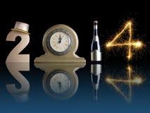 Nuovo 2014 anni Immagini Stock Libere da Diritti