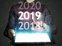 Nuovo 2019 anni in alta tecnologia fotografie stock libere da diritti