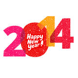 Nuovo 2014 anni felice Immagini Stock
