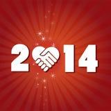 Nuovo 2014 anni felice Fotografia Stock Libera da Diritti