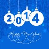 Nuovo 2014 anni felice Fotografie Stock Libere da Diritti