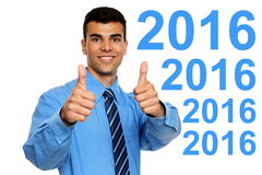 Nuovo 2016 anni felice Immagini Stock Libere da Diritti