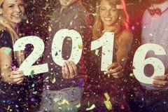 Nuovo 2016 anni felice Immagine Stock Libera da Diritti