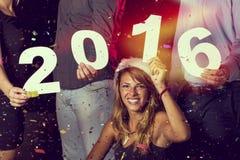 Nuovo 2016 anni felice Fotografia Stock