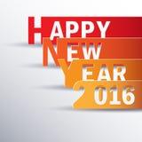 Nuovo 2016 anni felice Cartolina d'auguri Progettazione variopinta Ill di vettore Fotografie Stock