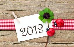 Nuovo anno 2019 Fotografia Stock