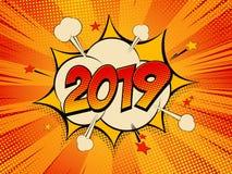 Nuovo anno 2019 1 1 illustrazione vettoriale