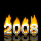 Nuovo anno 2008 Immagini Stock Libere da Diritti