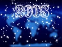Nuovo anno 2008, cosmico Fotografie Stock
