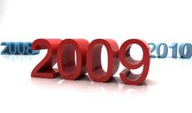 Nuovo anno 2009 illustrazione vettoriale