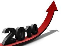 Nuovo anno 2010 Fotografie Stock