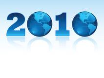 Nuovo anno 2010 in tutto il mondo Illustrazione Vettoriale