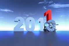 Nuovo anno 2011 Fotografia Stock Libera da Diritti
