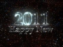 Nuovo anno 2011 dalle stelle Fotografie Stock Libere da Diritti
