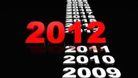 Nuovo anno 2012 Fotografie Stock Libere da Diritti