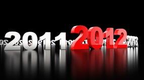 Nuovo anno 2012 royalty illustrazione gratis