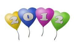 Nuovo anno 2012 dell'aerostato Fotografie Stock