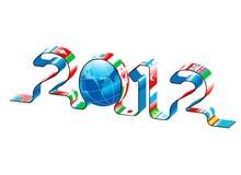 Nuovo anno 2012 di vettore Fotografia Stock