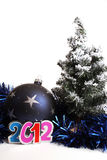 Nuovo anno 2012 e una bagattella Fotografie Stock Libere da Diritti