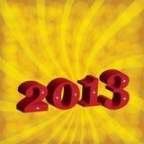 Nuovo anno 2013. Fotografia Stock