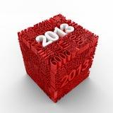 Nuovo anno 2013. Cubo di molti numeri di anno. royalty illustrazione gratis