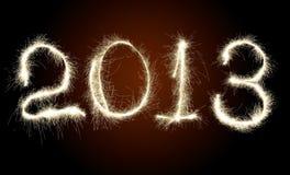 Nuovo anno 2013 della data Fotografia Stock