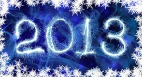 Nuovo anno 2013 della data Fotografie Stock
