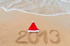 Nuovo anno 2013 e vacanza della spiaggia di natale Fotografie Stock