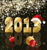 Nuovo anno 2013, illustrazione di vettore Fotografia Stock