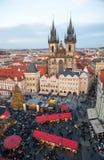 Nuovo anno 2013 a Praga Fotografia Stock Libera da Diritti