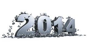Nuovo anno 2014 Immagini Stock