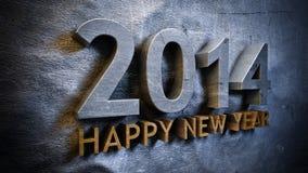 Nuovo anno 2014 illustrazione di stock