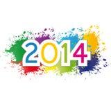 Nuovo anno 2014 Fotografia Stock Libera da Diritti