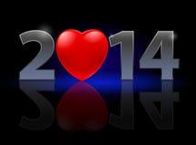 Nuovo anno 2014 Fotografie Stock Libere da Diritti
