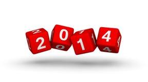 Nuovo anno 2014 Fotografie Stock