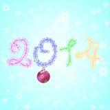 Nuovo anno 2014 Immagine Stock
